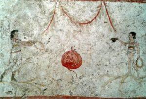 Il melograno è sempre stato presente nell'iconografia di Paestum.