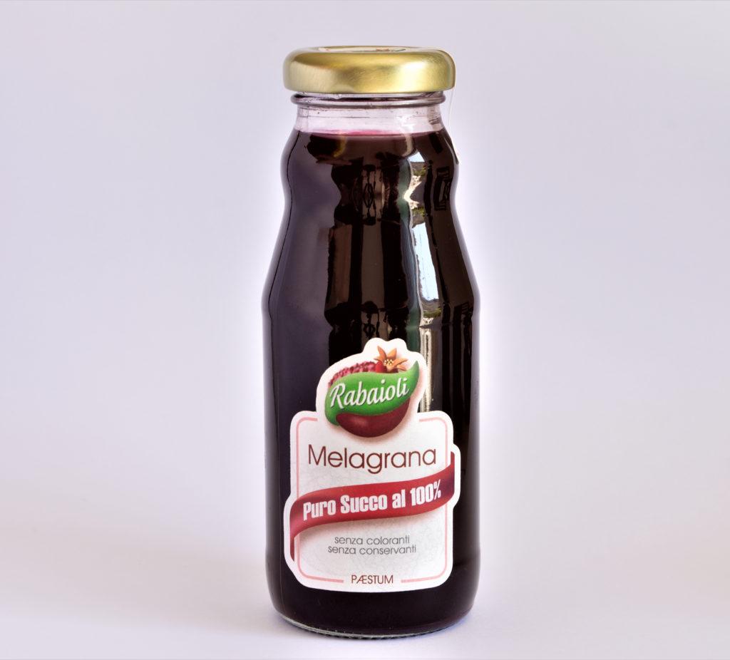 Puro succo di frutta al 100% di melagrana di Paestum